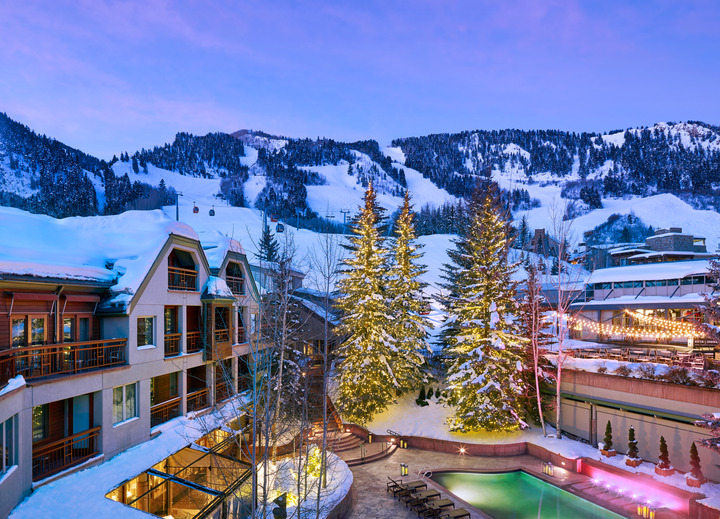 The Little Nell is among the very best-located ski hotels in the world