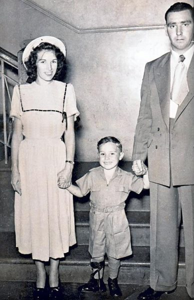 Against the odds, little Jeff, here with his parents, went on to big things