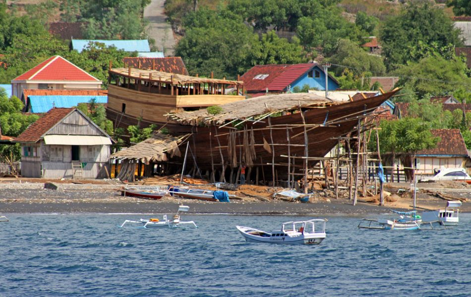The latest boat building project on the beach at Wera, Sumbawa