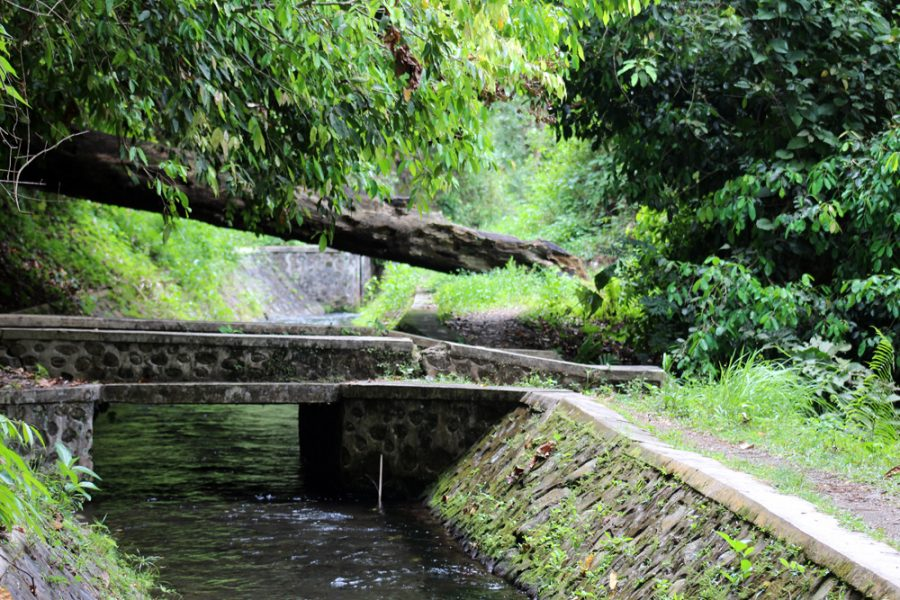 Part of of the Japanese canal on Lombok