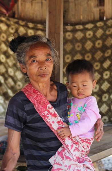 Sasak grandmother with her grandchild