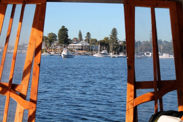 The view from the back door can be pretty much anywhere you like on the lower Swan River