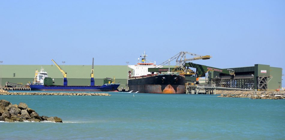 The port at Geraldton