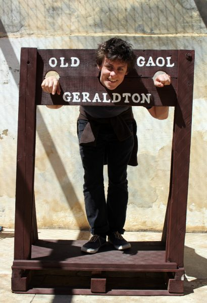 Rhys at the Old Jail. Pity we didn't have one of these useful devices at home when he was three!.