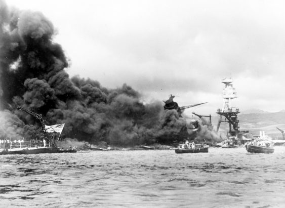 Pearl Harbour the day of the Japanese attack