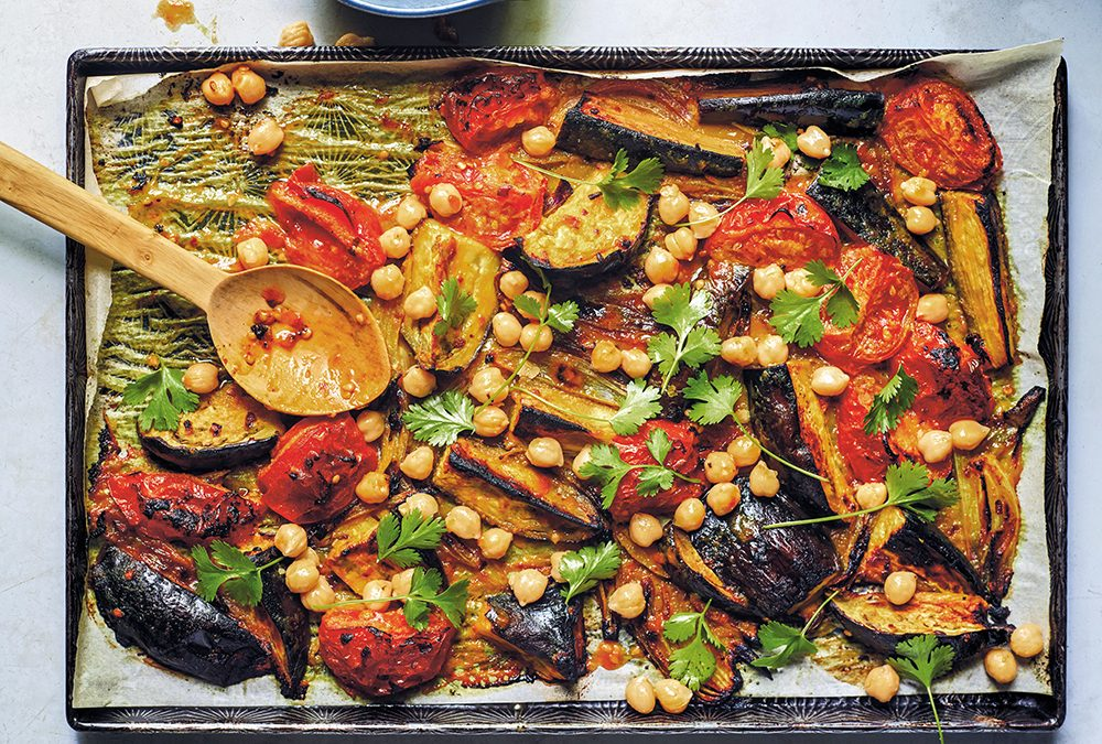 Recipe: Chaplin's Spicy Miso-Roasted Tomatoes and Eggplant